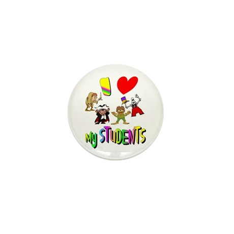 I Love My Students Mini Button