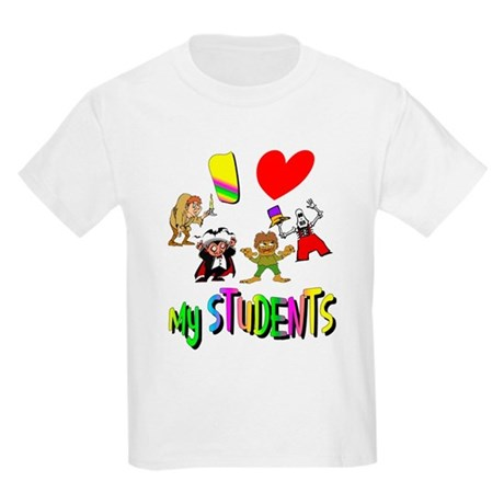 I Love My Students Kids Light T-Shirt