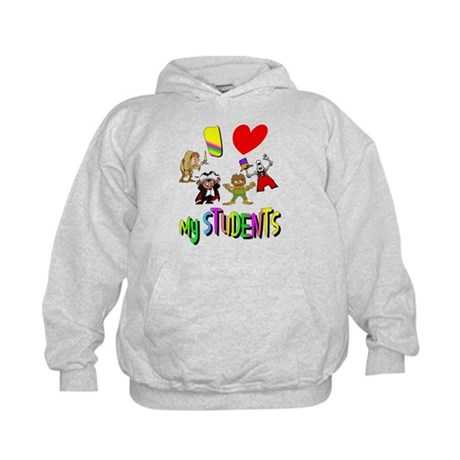 I Love My Students Kids Hoodie