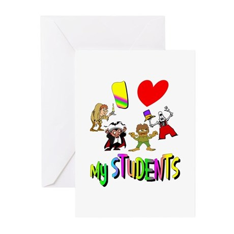 I Love My Students Greeting Cards (Pk of 10)