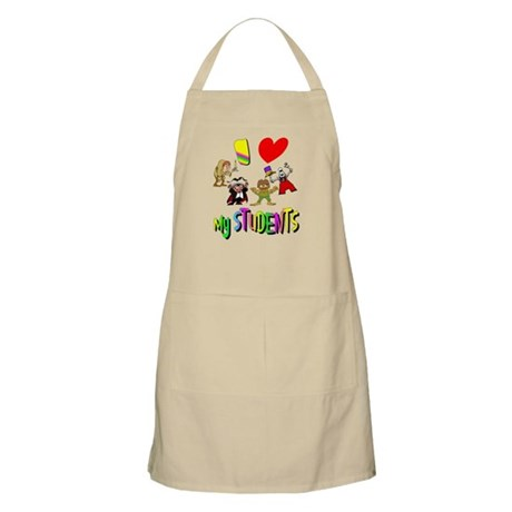 I Love My Students BBQ Apron