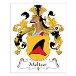 Meltzer Family Crest Small Poster