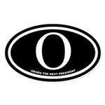 OBAMA the Next President 2008 Oval Sticker (10 pk)