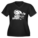 MAX EFFORT SQUAT Women's Plus Size V-Neck Dark T-S
