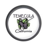 Temecula Grapes Wall Clock
