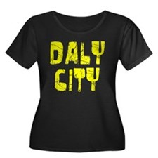 Daly City Faded (Gold) Women's Plus Size Scoop Nec