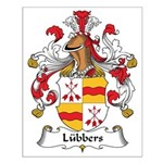 Lubbers Family Crest Small Poster