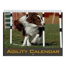 Border Collie Agility Wall Calendar