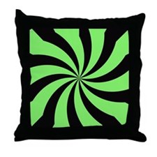Acid green kaleidescope Throw Pillow