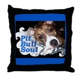 Pit Bull Soul-Pt.4 Throw Pillow