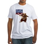 Hamsters for Clinton Fitted T-Shirt