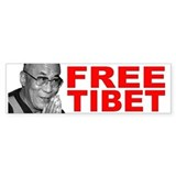 Free Tibet Bumper Car Sticker