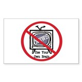 turn off news Rectangle Sticker 10 pk)