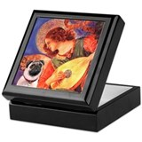Mandolin Angel / Pug (f) Keepsake Box