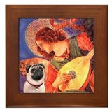 Mandolin Angel / Pug (f) Framed Tile