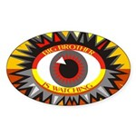 Big Brother is Watching (10 Oval stickers)