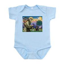 St Francis / Pug Infant Bodysuit