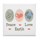 Peace Love Earth Tile Coaster