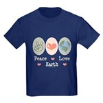 Peace Love Earth Kids Dark T-Shirt