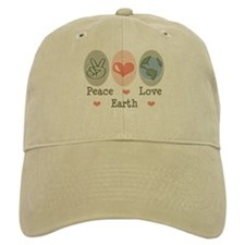 Peace Love Earth Baseball Cap