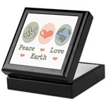 Peace Love Earth Keepsake Box