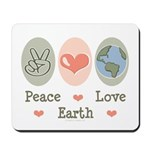 Peace Love Earth Mousepad