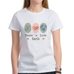 Peace Love Earth Women's T-Shirt
