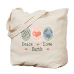 Peace Love Earth Tote Bag