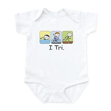 Triathlon Stick Figure Infant Bodysuit