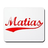 Vintage Matias (Red) Mousepad