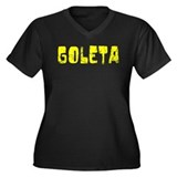 Goleta Faded (Gold) Women's Plus Size V-Neck Dark