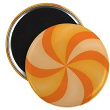 Orange Swirly Candy Magnet