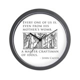 John Calvin Idol Craftsman from birth Wall Clock