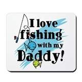 Fishing With Daddy Mousepad