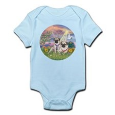 Cloud Angel - 2 Pugs Infant Bodysuit