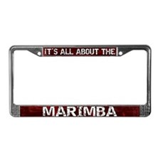 All About Marimba License Plate Frame Red