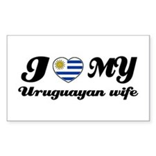 I love my Uruguayan wife Rectangle Decal
