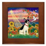 Autumn Angel /Rat Terrier Framed Tile