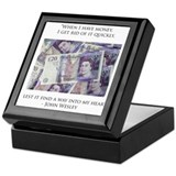 How John Wesley handled money Keepsake Box