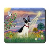 Cloud Angel & Rat Terrier Mousepad