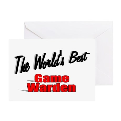 &quot;The World's Best Game Warden&quot; Greeting Cards (Pk