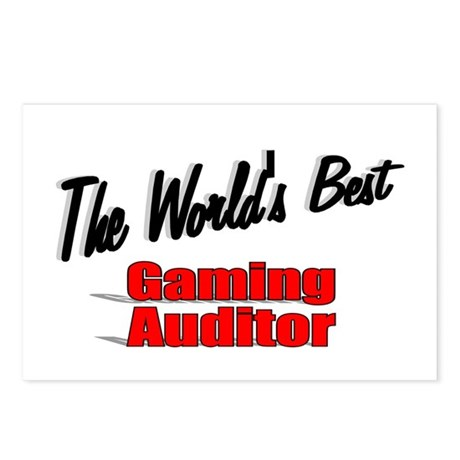 """The World's Best Gaming Auditor"" Postcards (Packa"