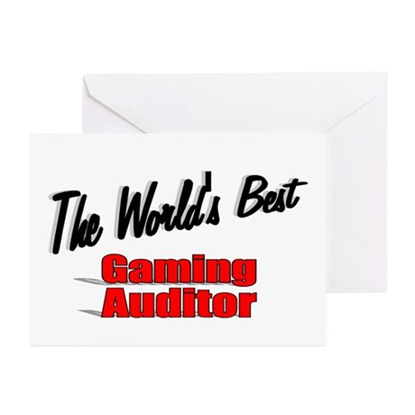 """The World's Best Gaming Auditor"" Greeting Cards ("