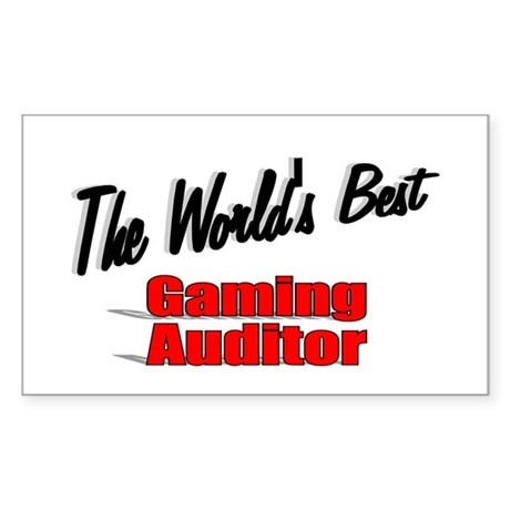 """The World's Best Gaming Auditor"" Sticker (Rectang"