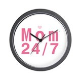 Mom 24/7 Wall Clock