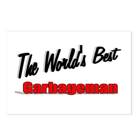 &quot;The World's Best Garbageman&quot; Postcards (Package o