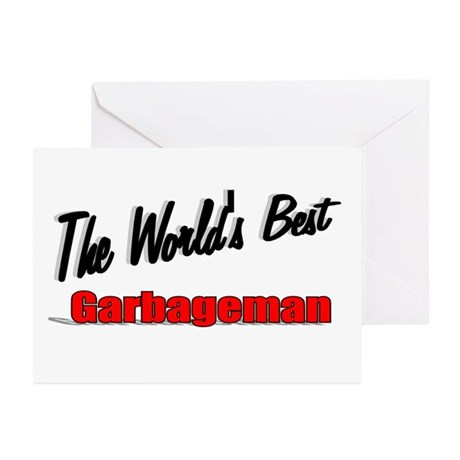 &quot;The World's Best Garbageman&quot; Greeting Cards (Pk o
