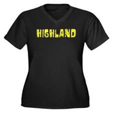Highland Faded (Gold) Women's Plus Size V-Neck Dar