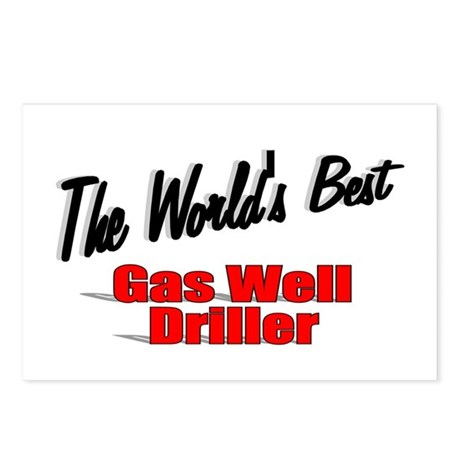 """The World's Best Gas Well Driller"" Postcards (Pac"