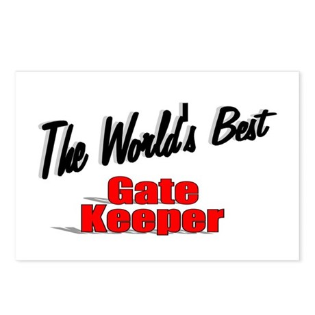 """The World's Best Gate Keeper"" Postcards (Package"